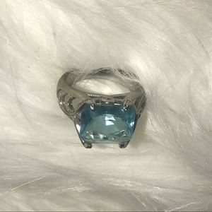 Enchanting Silver ring with Blue Stone